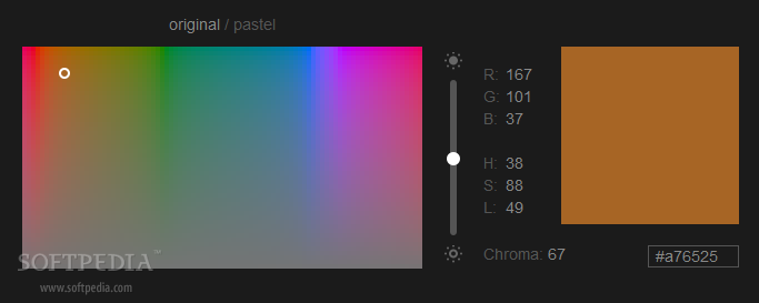 HUSL - HUSL is a colorpicker that uses a modified alternative of the HSL color space