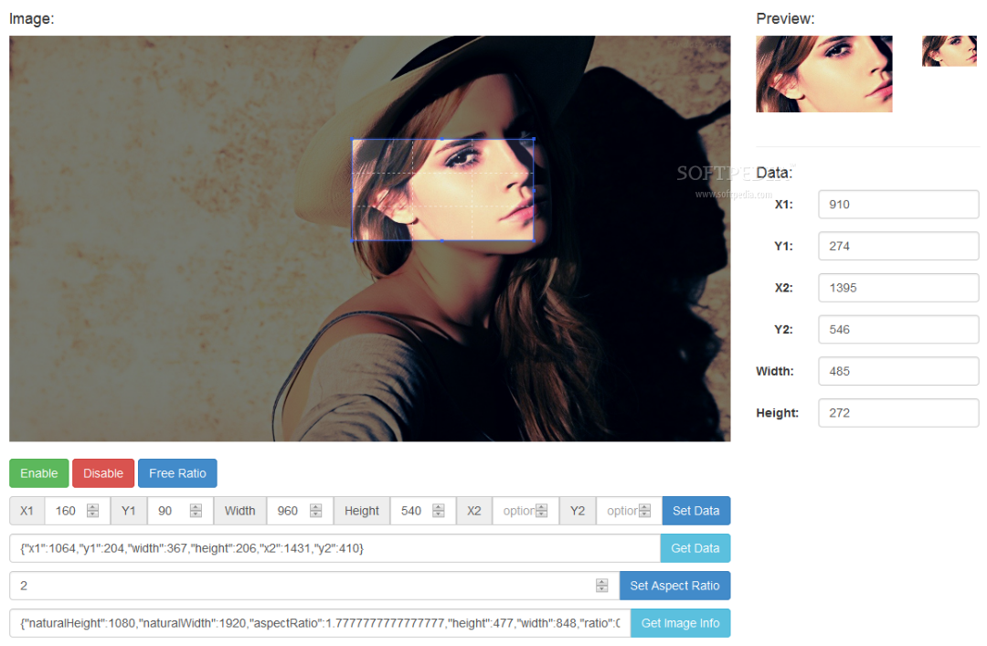 Image Cropper - The Image Cropper jQuery plugin allows users to crop the section of an image they want to use