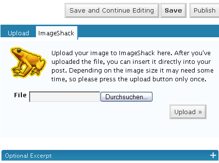 ImageShack Uploader screenshot 1