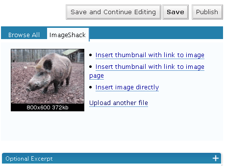 ImageShack Uploader screenshot 2