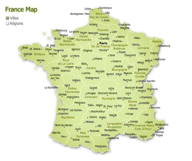 "Screenshot 1 of Interactive map of France. ""Cities of France"""