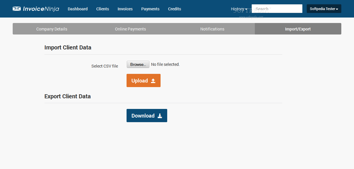 Invoice Ninja - An import and export tool is packed with Invoice Ninja