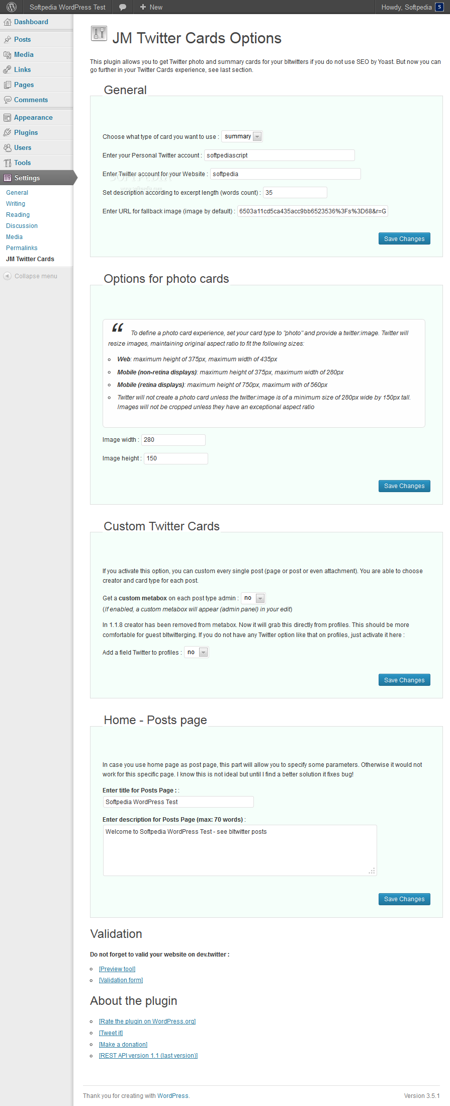 JM Twitter Cards - JM Twitter Cards allows configuring Twitter details about post authors