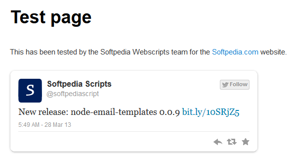 JM Twitter Cards - Once activated, Twitter metadata is added to the page's source code with details about its creator