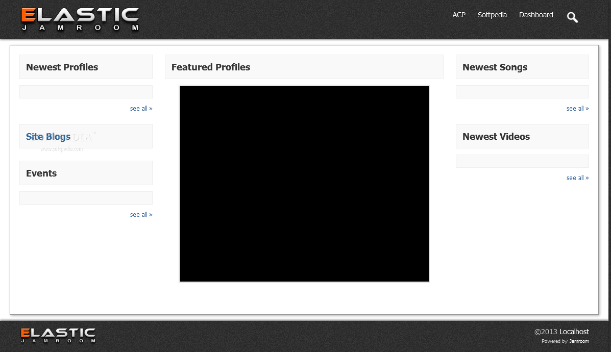 Jamroom - The Jamroom frontend is where all the site's activity will be printed out