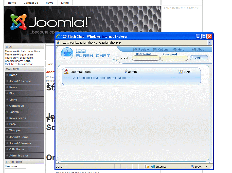 Joomla! Chat Module screenshot 1