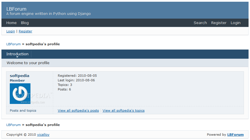 LBForum screenshot 3