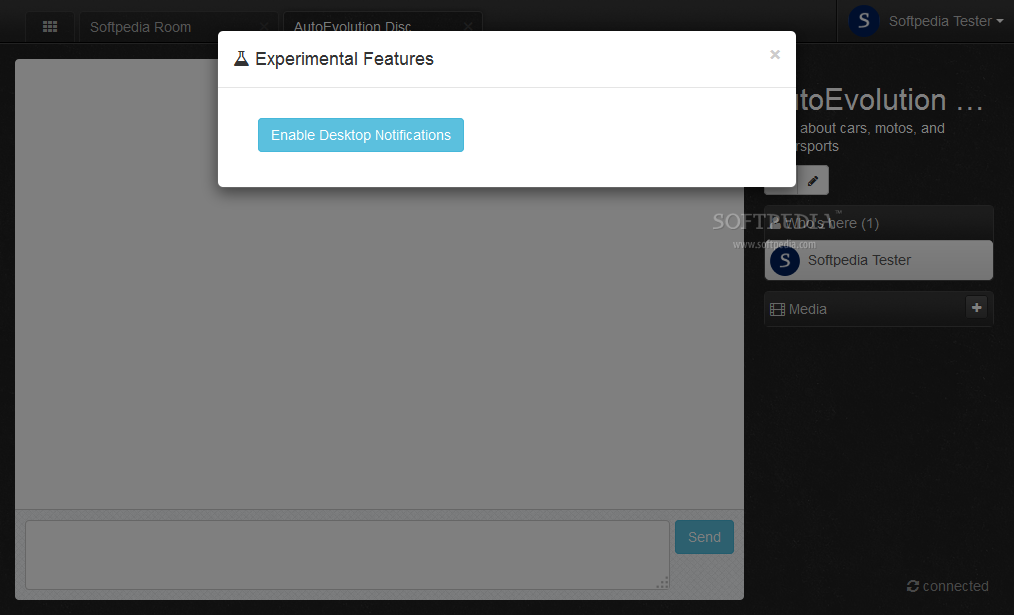 Let's Chat - Some experimental features like desktop notifications can be turned on also