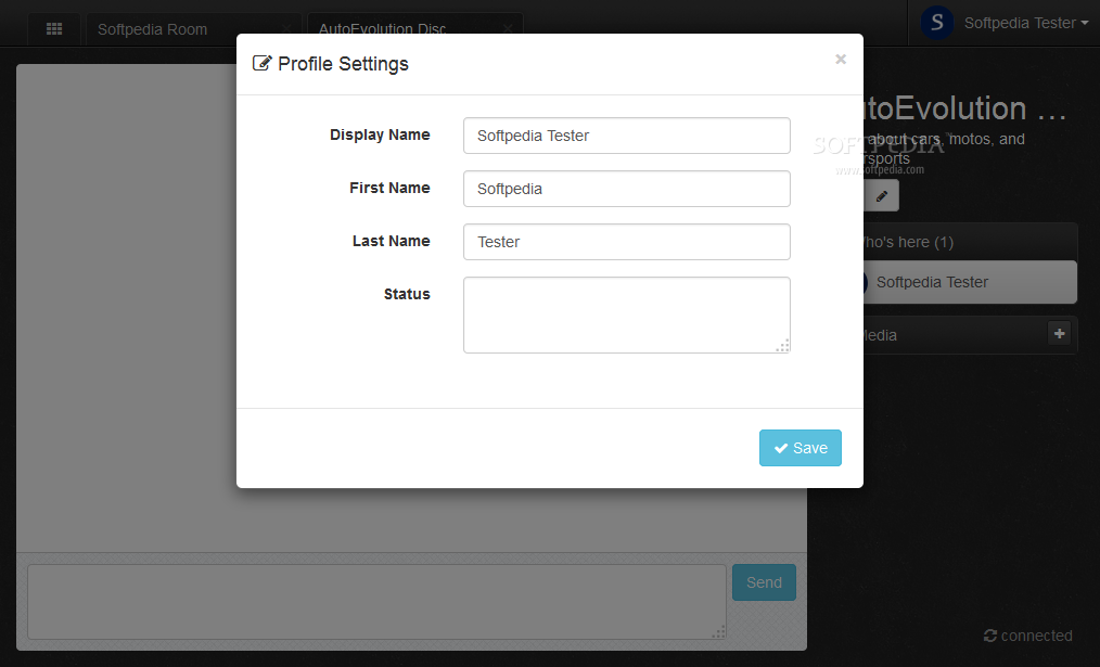 Let's Chat - Let's Chat users can customize their profiles ...