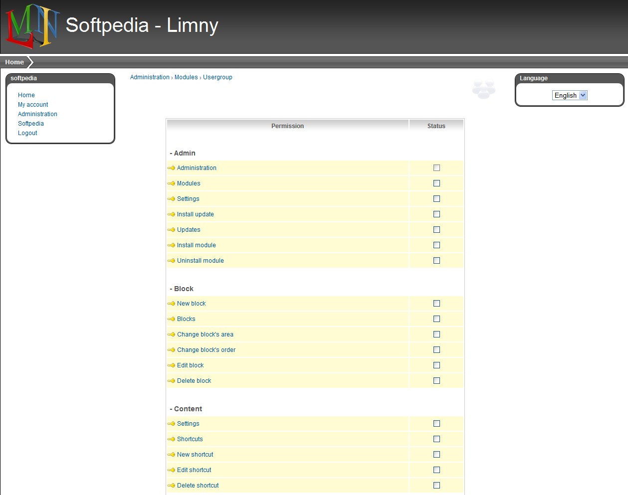 Limny - Managing group permissions