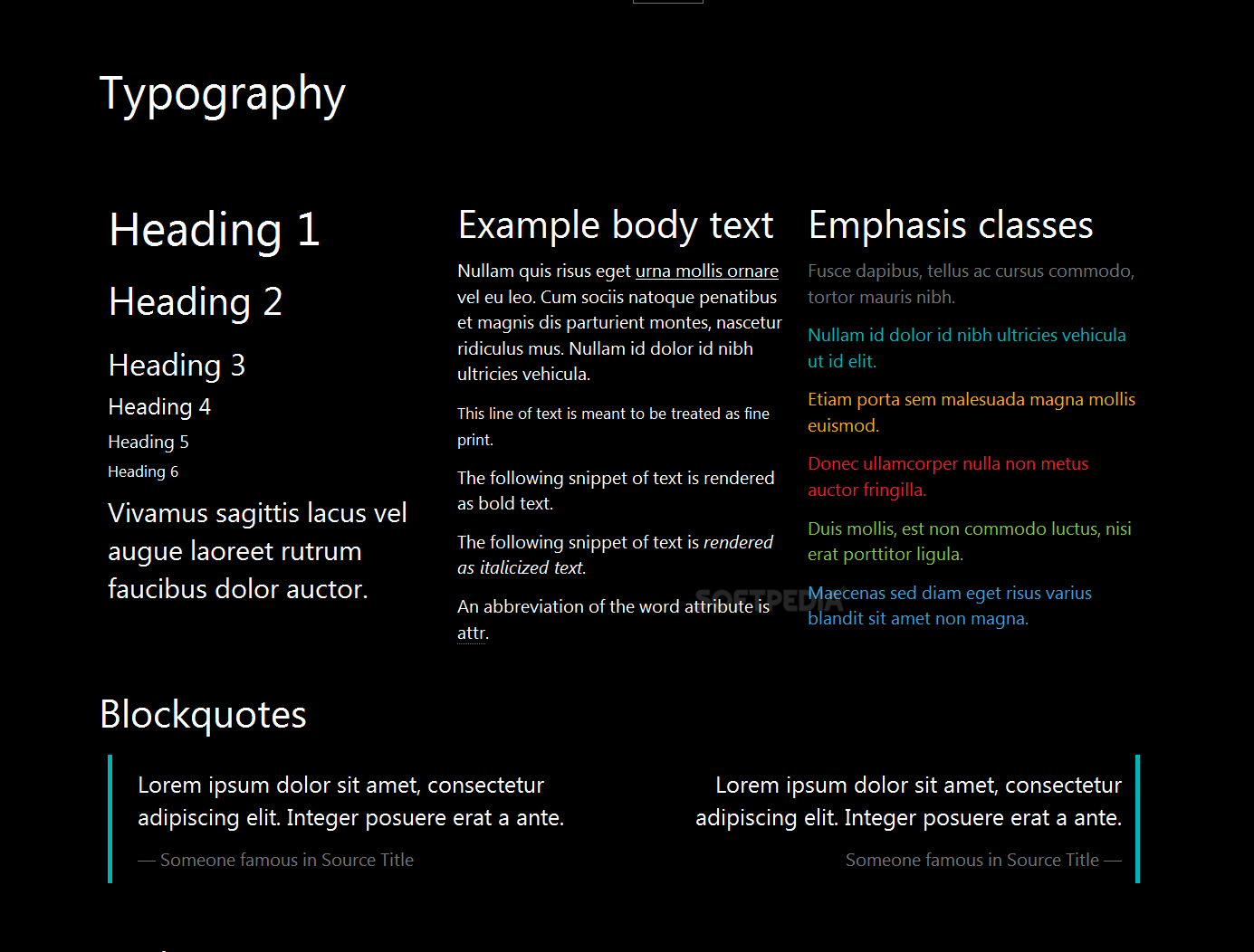 M8tro Bootstrap - Support is included for basic buttons, navbars, typography elements and table styles