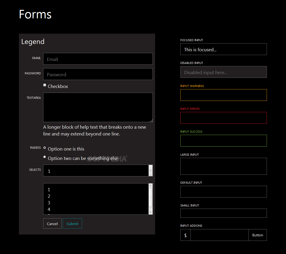 M8tro Bootstrap - M8tro Bootstrap also supports basic form elements, pagers, pills, tab panels, and breadcrumbs