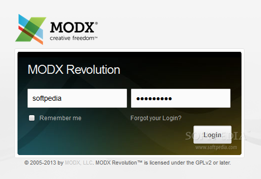 MODx Revolution - To access the administration panel, you need a special backend account