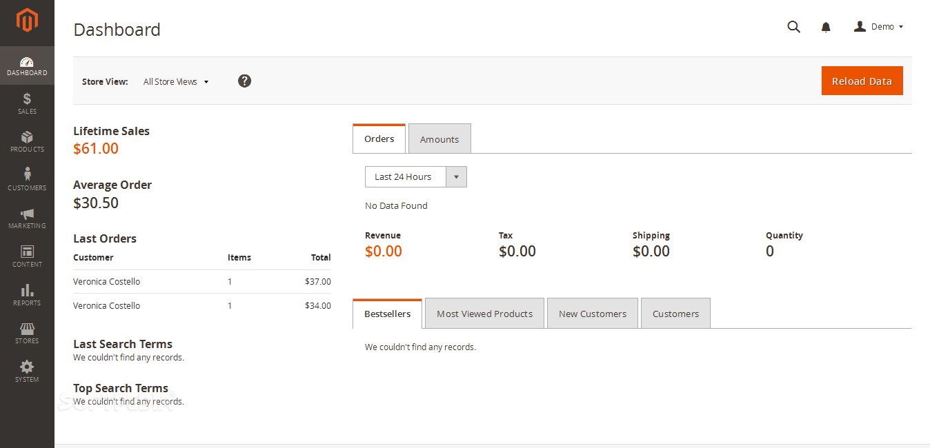 Magento Community Edition - Magento 2.0 comes with a new backend dashboard