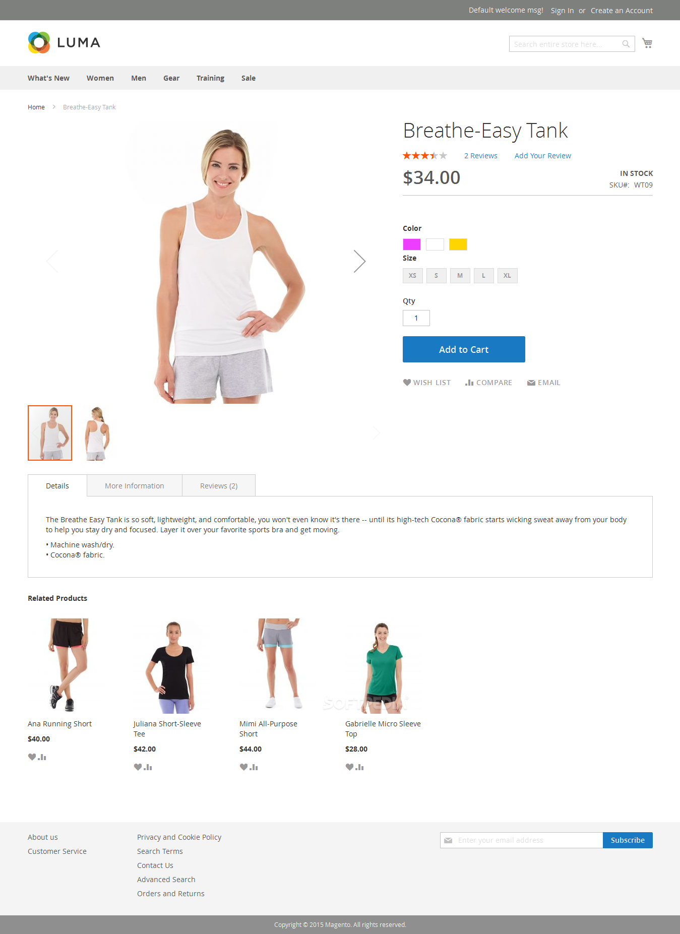 Magento Community Edition - Magento 2.0 also comes with a new frontend theme
