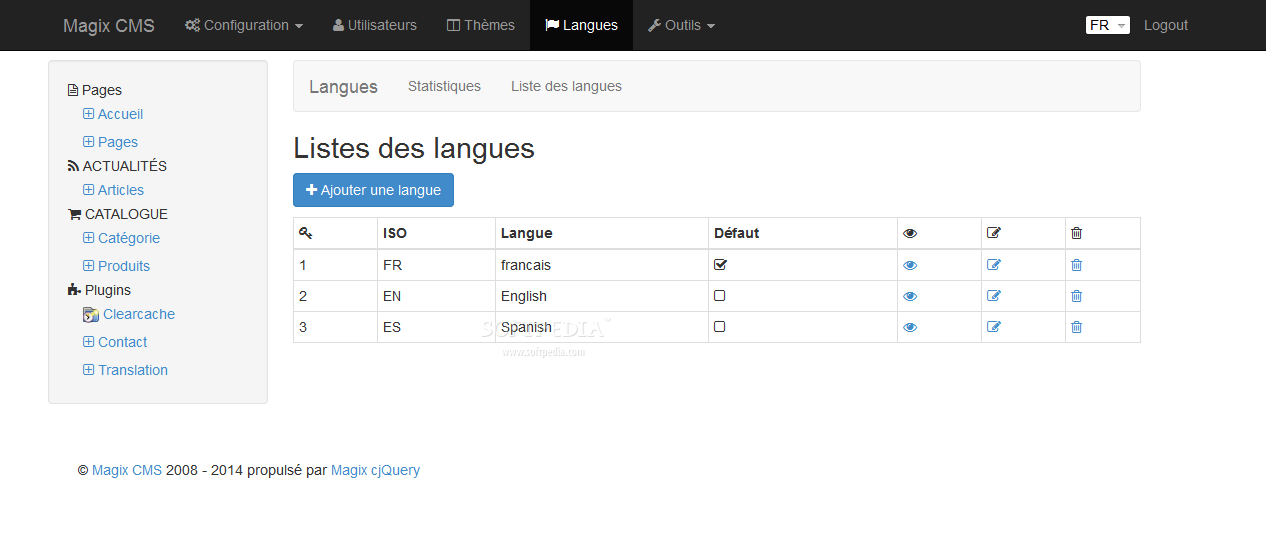 Magix CMS - Magix CMS supports building a pretty configurable multi-lingual website