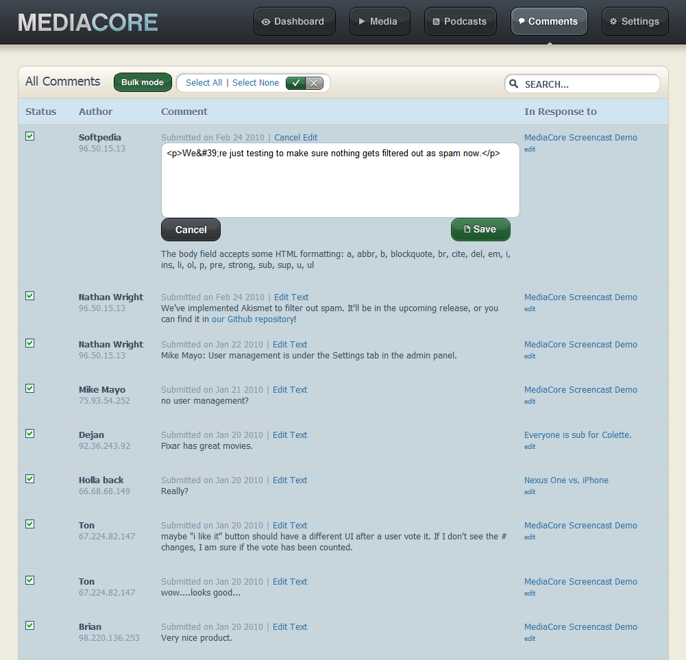 MediaCore screenshot 7