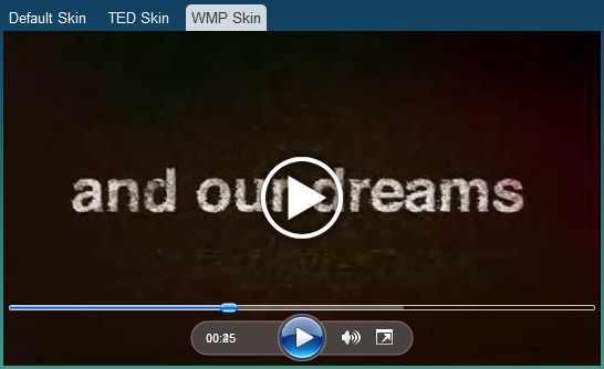 MediaElement.js - Video player skin#3