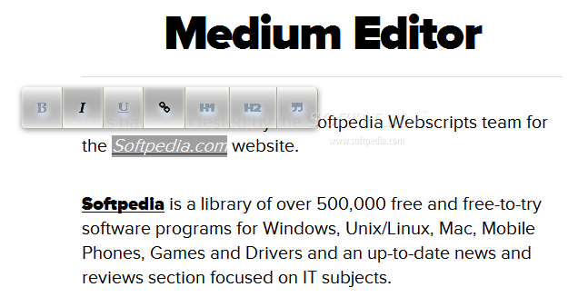 Medium Editor - Medium Editor is also easy to style - Roman theme