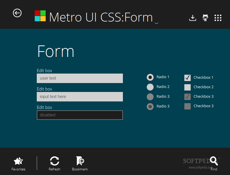 Metro UI CSS - Form elements are included with the Metro UI CSS framework also