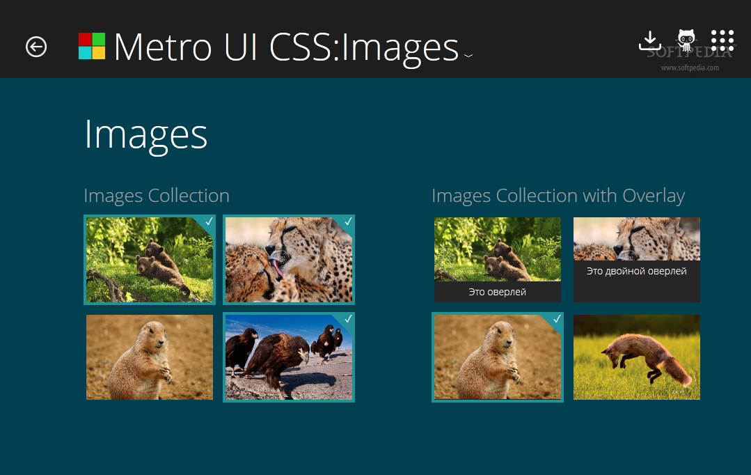 Metro UI CSS - Metro UI CSS comes with a nifty way to display images