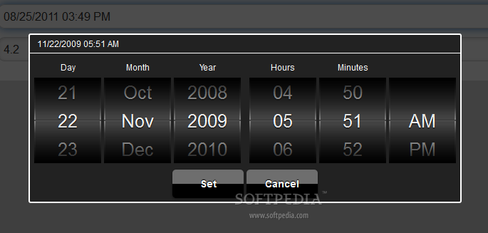 MobiScroll - Selecting date and time