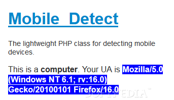 Mobile_Detect - Detecting user agent string details on the server-side via PHP and Mobile_Detect
