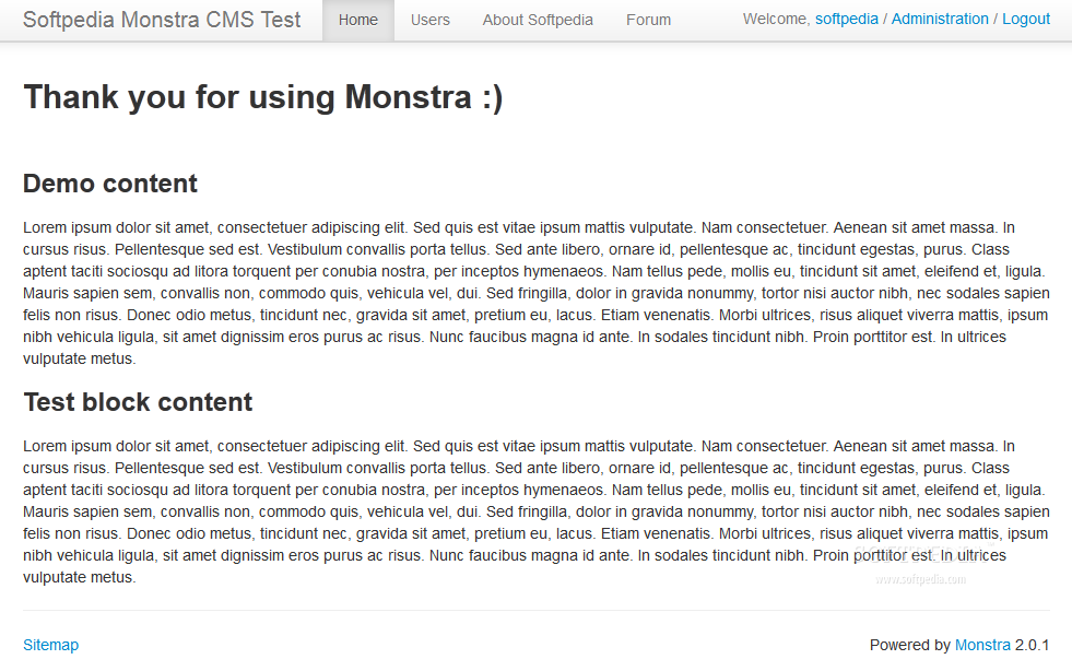 Monstra CMS - Default front-end theme