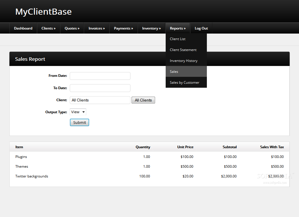MyClientBase screenshot 20