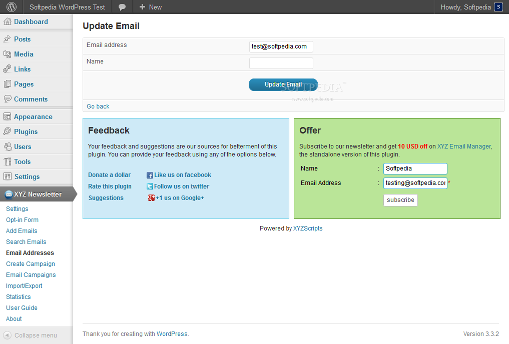 Newsletter Manager (WordPress) screenshot 6