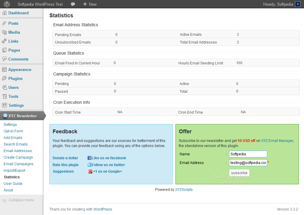 Newsletter Manager (WordPress) screenshot 10