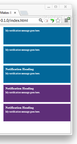 Notific8 - Notific8 mimics the notification styles packed with Microsoft's Windows 8 OS