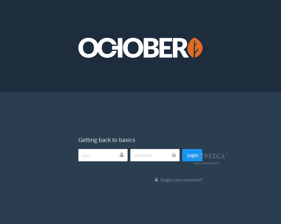 October CMS - Once everything installed OK, admins can log in their backend