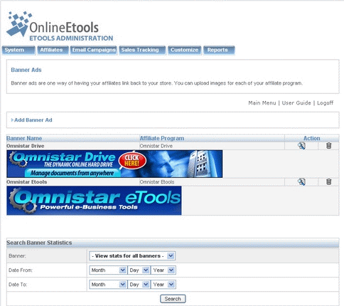 Omnistar Affiliate screenshot 3