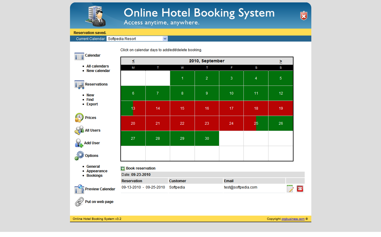Image gallery online booking system for Hotel booking design
