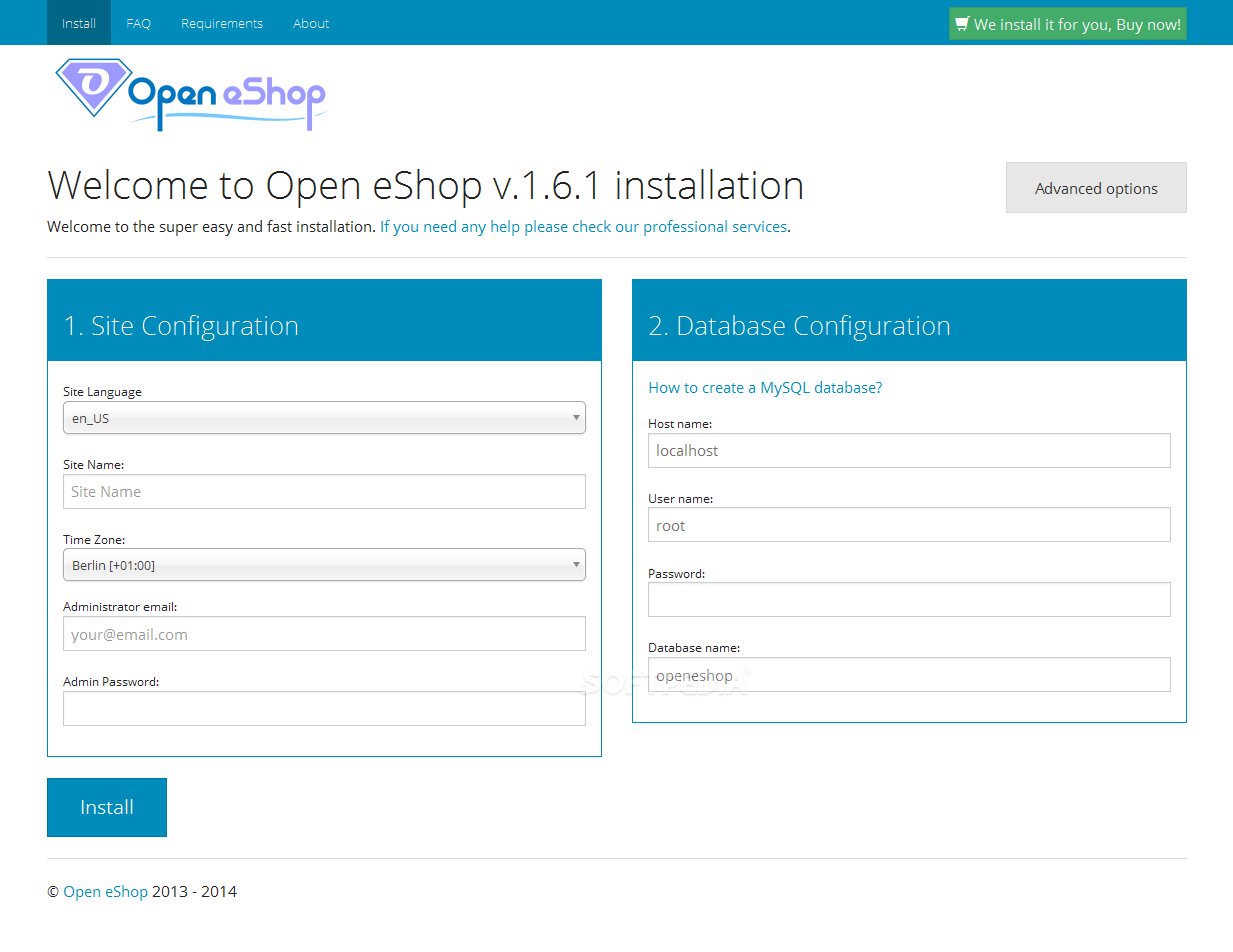 Open eShop - An installation wizard is also included with Open eShop