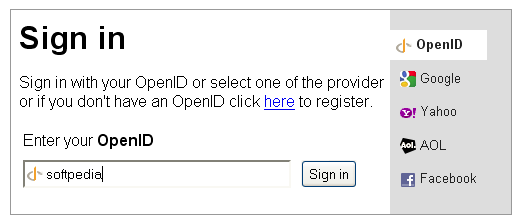 OpenID Login screenshot 1