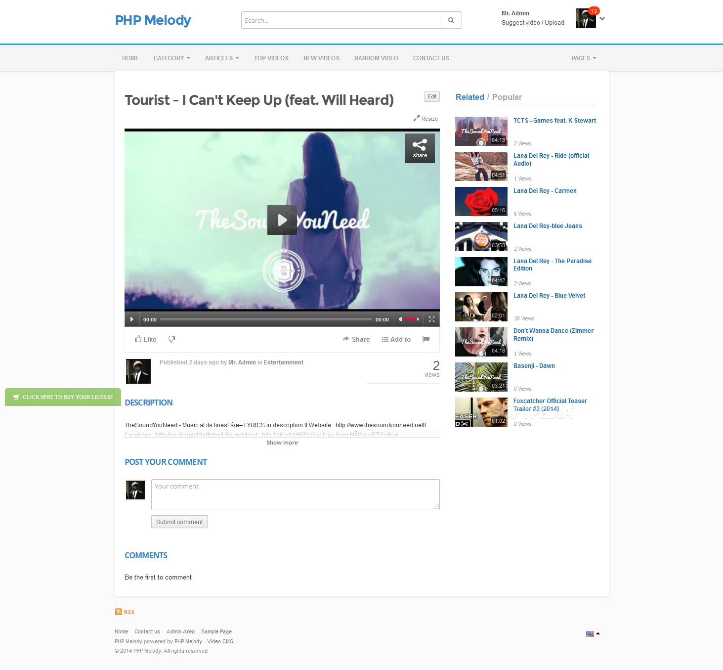 PHP Melody - The PHP Melody video pages look very similar to YouTube pages