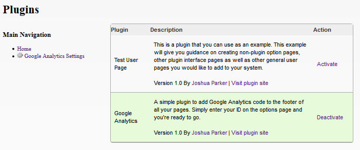 PHP Plugin & Hook System screenshot 1