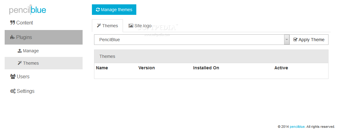 PencilBlue - Themes will help admins customize the site's frontend