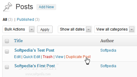 Post Duplicator - A special option is added for duplicating WordPress posts in the backend
