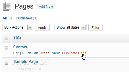 Post Duplicator - A special option is added for duplicating WordPress pages in the backend