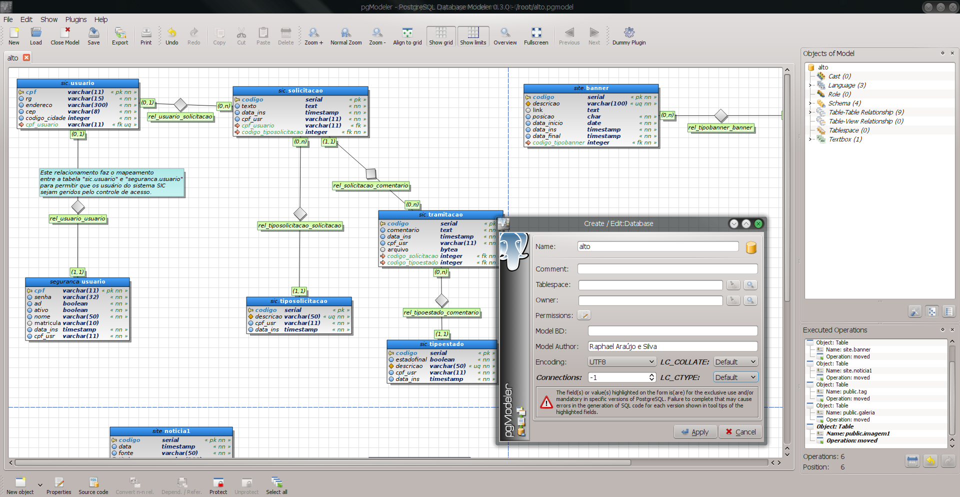 PostgreSQL Database Modeler screenshot 1