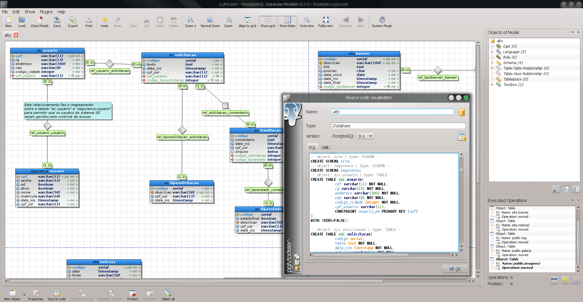PostgreSQL Database Modeler screenshot 2