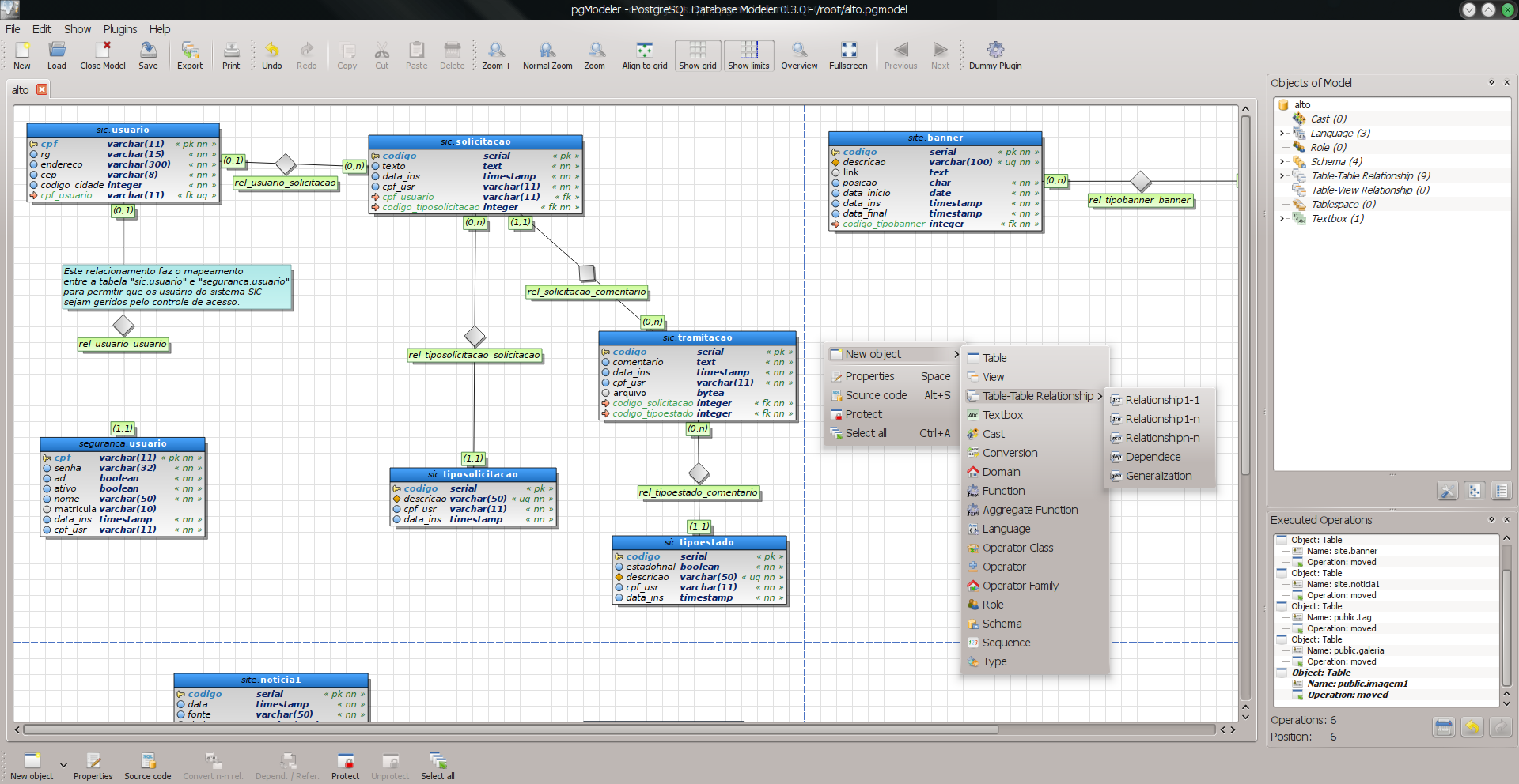 PostgreSQL Database Modeler screenshot 3