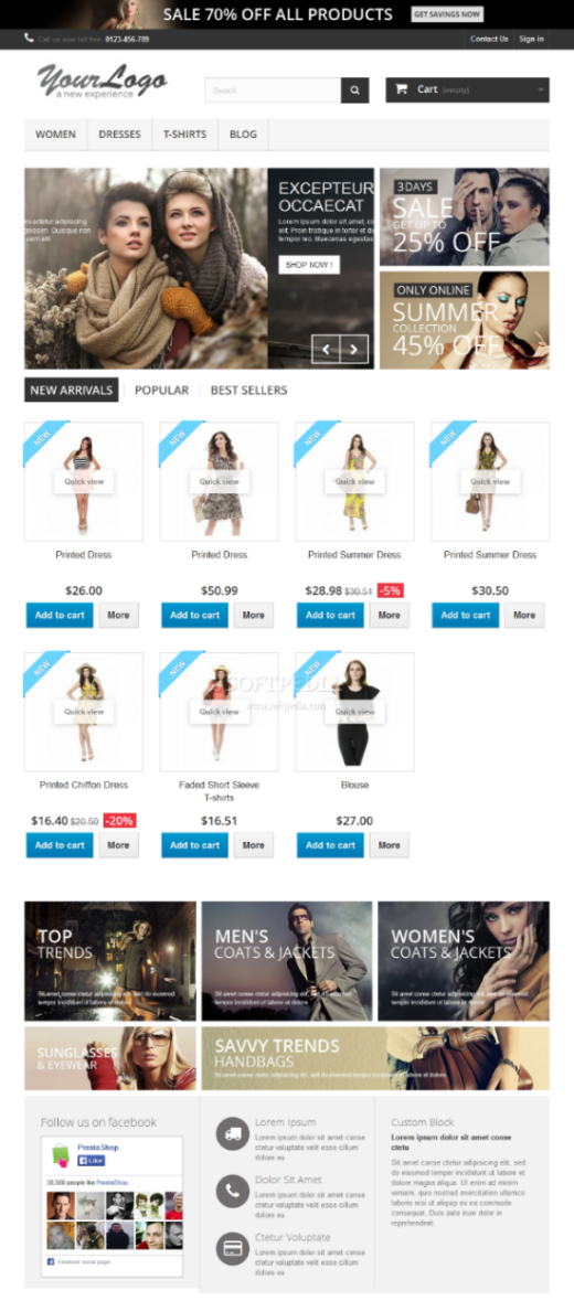 PrestaShop - The shop frontend is beautifully designed and very user friendly