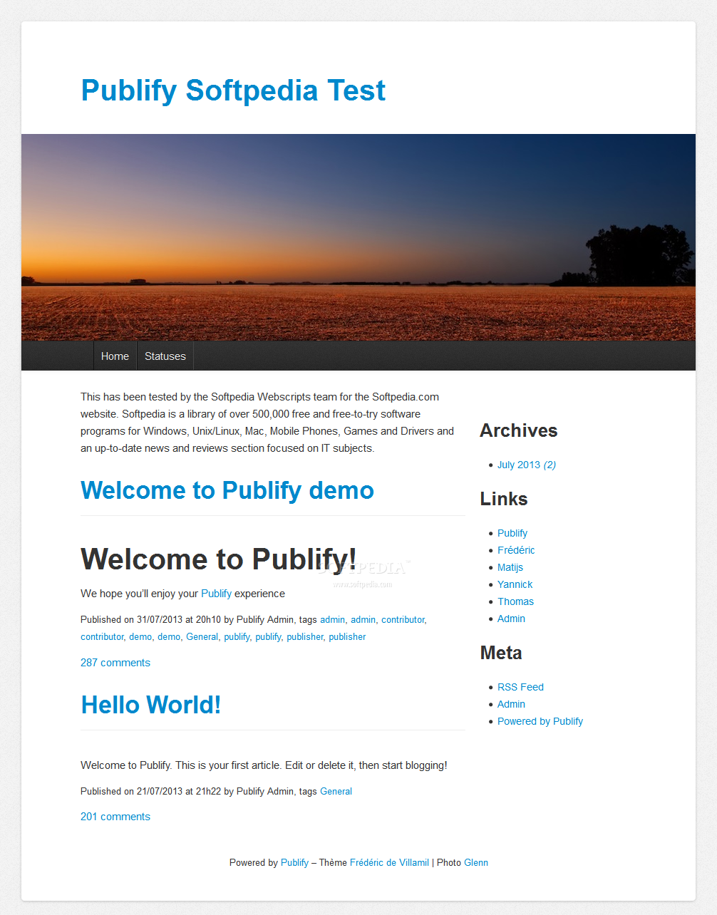 Publify - A default Publify theme is also included