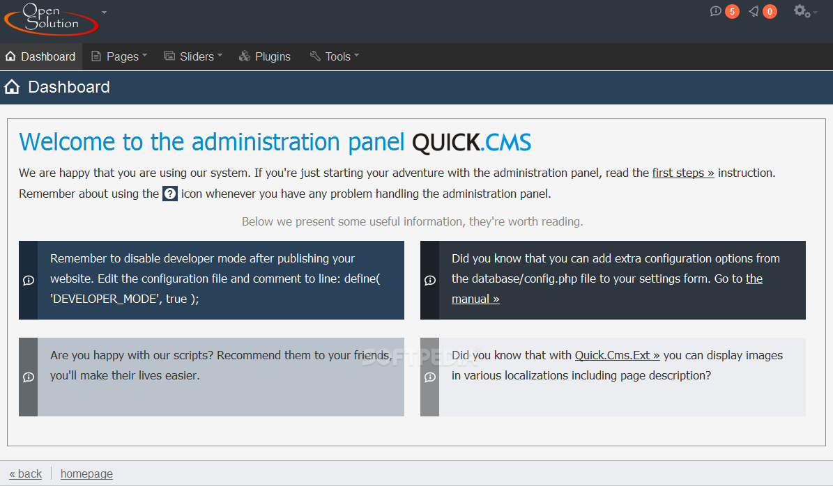 Quick.Cms - Quick.Cms can be used to build simple websites without the aid of a database