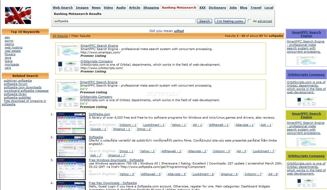 Ranking MetaSearch screenshot 2