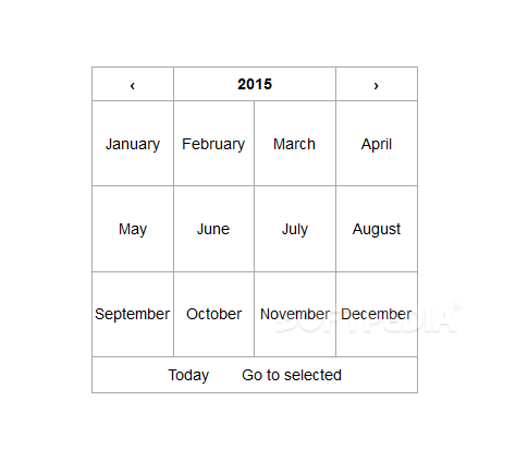 React Date Picker - Users can also easily skip through the months of an year